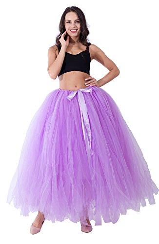 Halloween 100 cm Long Adult Puffy Tutu Tulle Skirt For Women Floor Length Wedding Party (Tulle Skirt Halloween)
