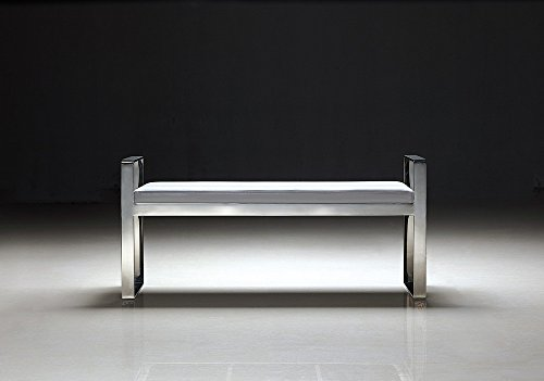 Pasargad Luxe Collection Faux Leather Bench