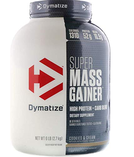 (Dymatize Super Mass Gainer, Cookies and Cream, 6)