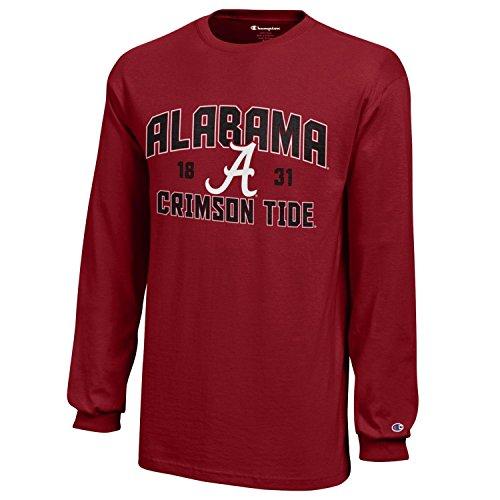 NCAA Champion Boy's Long Sleeve Jersey T-Shirt Alabama Crimson Tide Large -