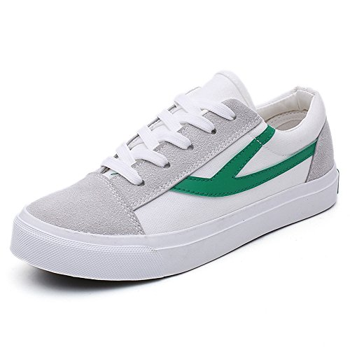 Canvas White Slip On Tennis Loafers Casual Sneakers Fashion Women's Green Cfx6dUqd
