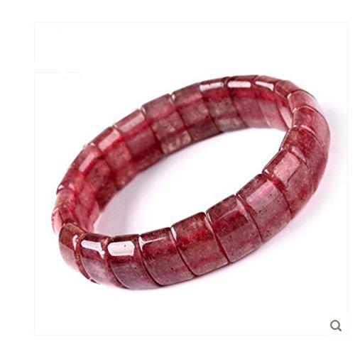 Natural Strawberry Quartz Crystal Gemstone Bangle Bracelet Women Jewelry