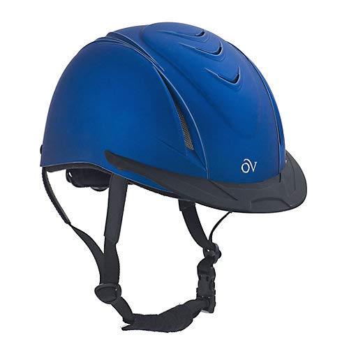Helmet Metallic - Ovation Kid's Metallic Schooler Riding Helmet, Blue, Small/Medium