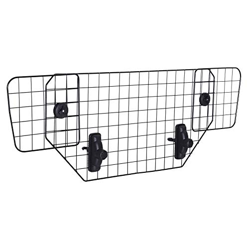 (PawHut Wire Mesh Universal Backseat Car Pet Barrier - Black)