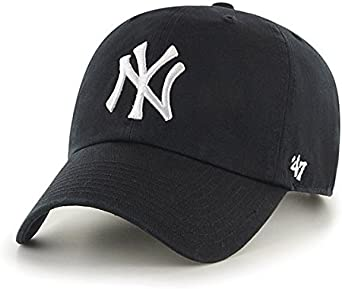 NEW YORK CITY BASEBALL CAP HAT ADJUSTABLE ONE SIZE FITS ALL BLACK WHITE
