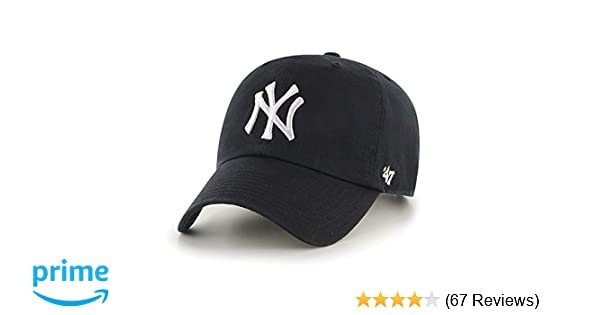 7ce26c9edc7 ... real amazon 47 mlb new york yankees brand clean up adjustable cap one  size black sports