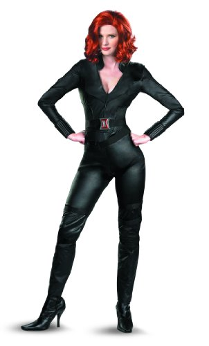 Marvel Disguise Avengers Movie Black Widow Avengers Deluxe Adult Costume, Black, Medium/(8-10)