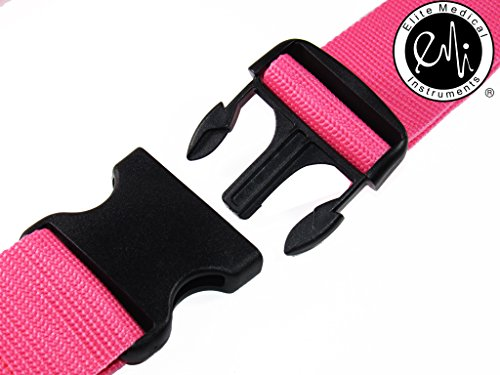 EMI-60-Gait-Transfer-Belt-PINK-with-PLASTIC-Buckle