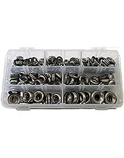 Finishing Washers Kit, Finishing Cup Countersunk Washer Assortment Set - 120 Pieces 6#/ 8#/ 10#/ 12#