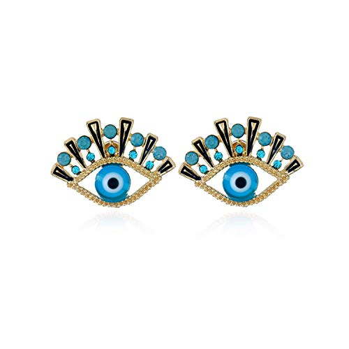 All Seeing Eyes Gold Stud Earrings