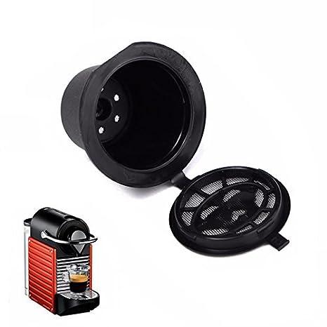 Amazon.com: Juego de taza de café recargable para cafetera ...
