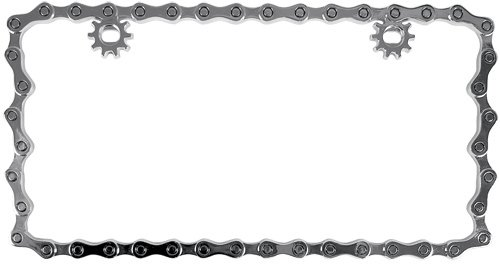 Custom Accessories 92762 Chrome Chain License Plate Frame