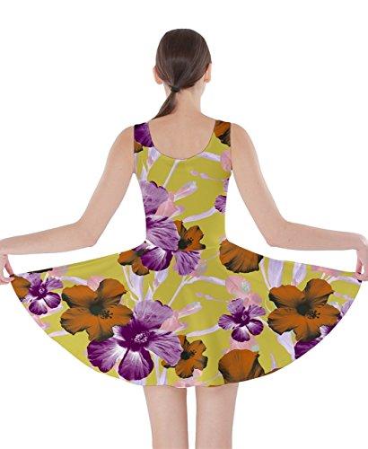 CowCow Damen Kleid Mehrfarbig Gr. XXXX-Large,  - Purple Orange