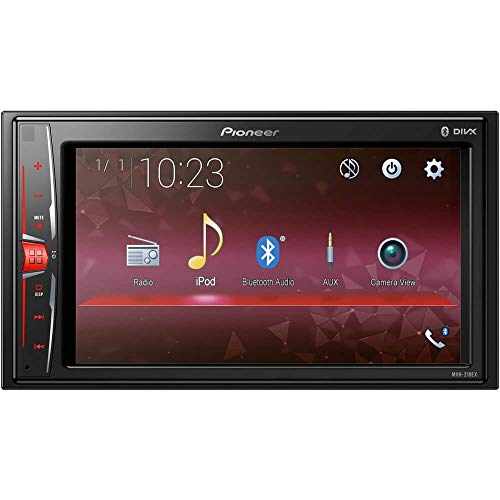 "Pioneer MVH210EX 6.2"" Double DIN in-Dash Multimedia A/V Receiver with"