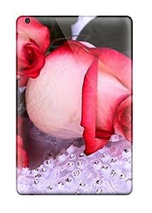 Tpu Fashionable Design Roses Rugged Cases Covers For Ipad Mini New