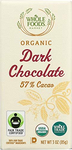 (Whole Foods Market, Organic Dark Chocolate Bar (57% Cacao), 3)