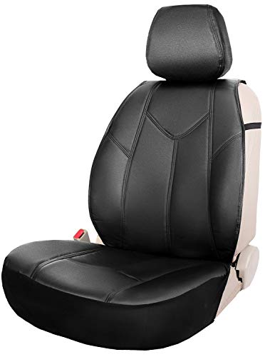 Leader Accessories Daytona Sideless One Leather Seat Cover Cushion Black Universal for Car Truck SUV Front ()