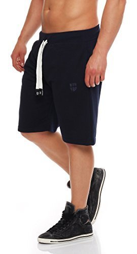 Gennadi Hoppe Herren Cotton Sweat Short Kurze Hose Bermuda Sweatpant (4XL, blau)