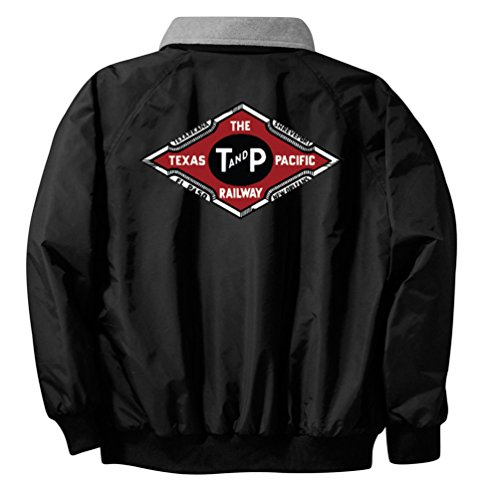 Texas and Pacific Embroidered Jacket Front and Rear Adult 5XL [69r]