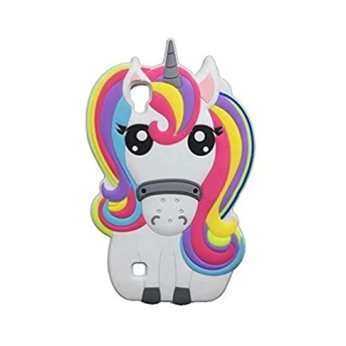 LG Tribute HD Case,LG X Style LS676 Case,LG Volt 3 Case,Awin 3D Cute Cartoon Rainbow Unicorn Horse Animal Soft Silicone Rubber Case LG X Style LS676/ Volt 3 / Tribute HD (Rainbow Unicorn) (Cases Lg Phone Volt Girls For)