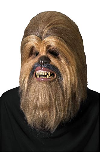 Halloween Mask Movie Quality (Star Wars Supreme Edition Chewbacca Mask, Brown, One)