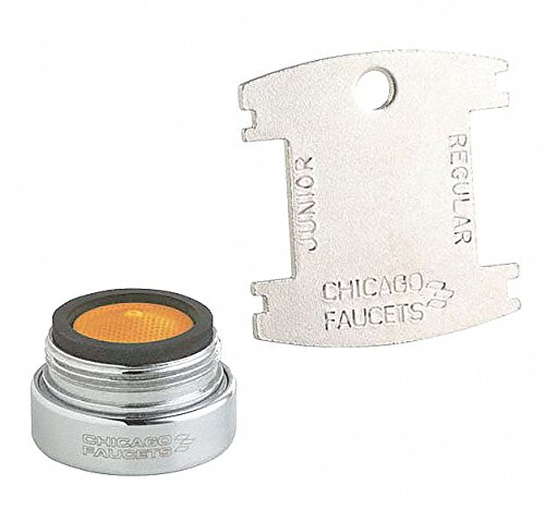 Vandal Resistant, Male Threads 13/16-27 Male Pressure Compensating Aerator Outlet,1.5 gpm, 13/16'-27
