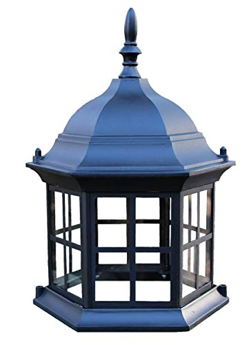 Chesapeakecrafts Lawn Lighthouse Top. Replacement Top Assembly or Upgrade for Lawn Lighthouses. Powder Coated Black Cast Aluminum Lighthouse Top with Metal Grills and Real Glass ()