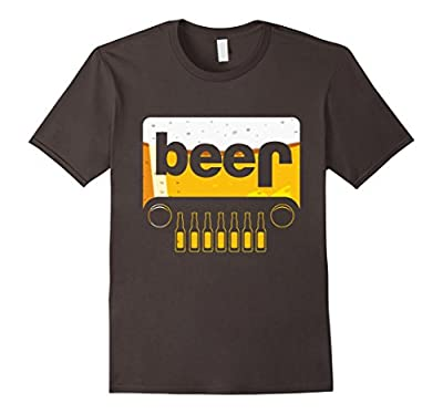 Funny Jeep Beer T-Shirt Party Bottlecap Adult Drink