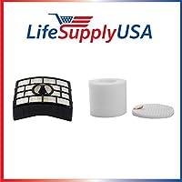 Replacement HEPA, Foam & Felt Filters for Shark XFF650 & XHF650 fits NV650, NV651, NV652, NV750, NV751, NV752, NV753 by LifeSupplyUSA