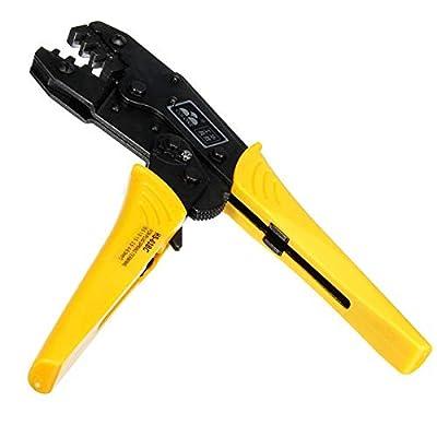 K&A Company 0.5-6mm2 AWG20-10 Ratchet Crimp Pliers Crimper Crimping Tool High-Carbon Steel