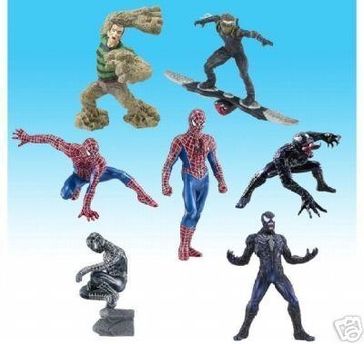 Spider-man 3 Figures / 7 Versions + 1 Secret