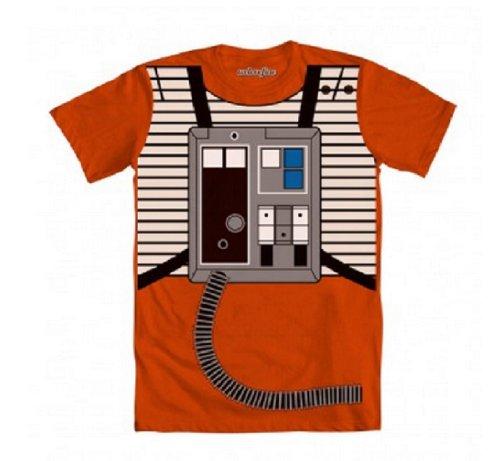 Star Wars Luke Flight Suit Orange Costume T-shirt (Adult (Galactic Costumes)