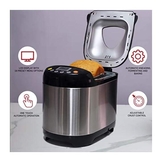 Lifelong Atta and Bread Maker 550 Watt (19 Pre-Set Menu with Adjustable Crust Control) 4