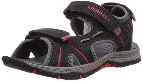 Merrell Panther - Sandalias deportivas de sintético para niño Multicolore (Mehrfarbig (BLACK/RED))