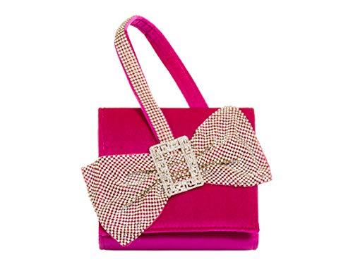 Clutch Bag Cross Body LeahWard Fuchsia Wedding Handbags Bow Cute Handle 222 Top Ladies x8wwqBOX0