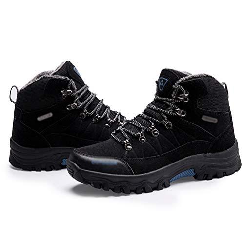 En Antidrapant top Marche Hommes Noir Yuanu De Professionnel Chaussures Trekking Plein Randonne Haut Air Antichoc Sneaker 4TI7w