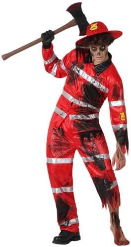 Atosa 14903 Disfraz bombero zombie adulto XL, talla hombre: Amazon ...