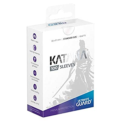 Ultimate Guard Katana Sleeves Standard Size Clear (100): Toys & Games [5Bkhe0502771]