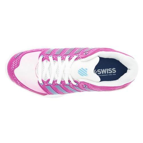 K-Swiss Frauen Hypercourt Express Tennisschuh Weiß / Sehr Berry / Bachelor Button