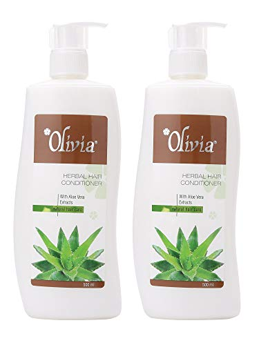 Olivia Aloe Vera Herbal Hair Conditioner with Aloe Vera Extracts for Natural Hair Care 500 ml – Pack of 2