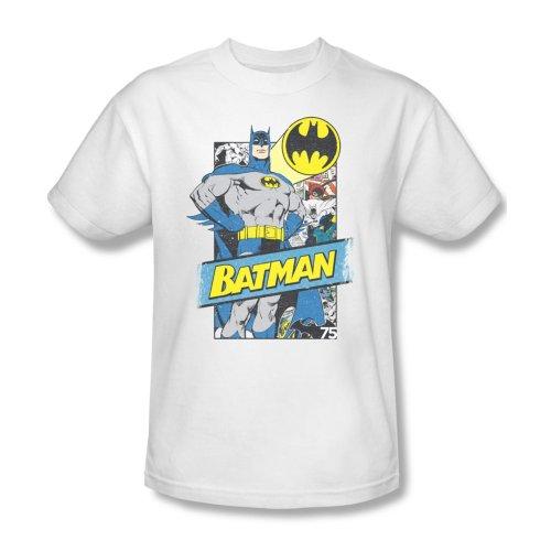 DC Comics Men's Batman Short Sleeve T-Shirt, Pages White X-Large