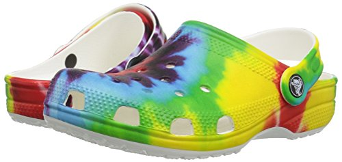 Crocs Unisex Classic Tie Dye Graphic Clog K, Multi, 12 M US Little Kid by Crocs (Image #6)