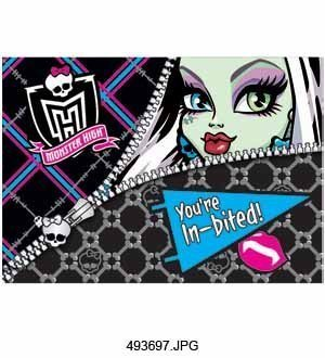 Monster High Invitation 8ct [3 Retail Unit(s) Pack] - 493697