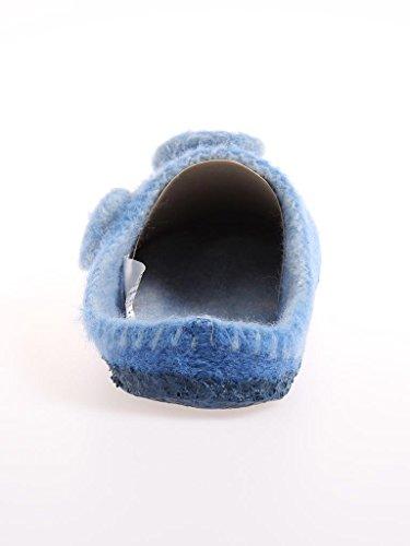 Giesswein - Zapatillas de casa de tela para mujer Alaska-azul