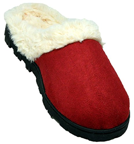 Outdoor 1411 Womens Slippers Shearling Shoes Indoor 18 Faux Red AaZqnxt8w