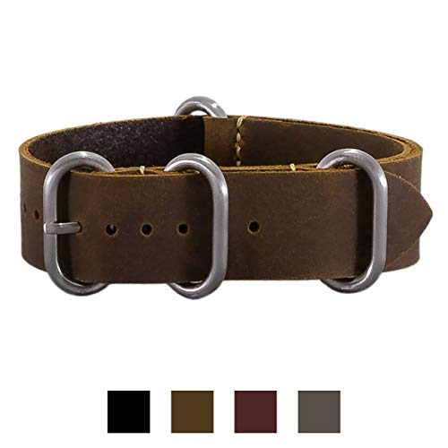 a015fb73b7f Jual Benchmark Basics Crazy Horse Oiled Leather Zulu Watchband ...