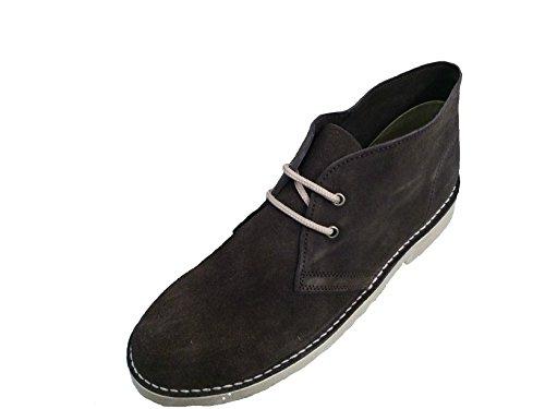 Roamers - Botas de cuero para hombre Marrón Oscuro