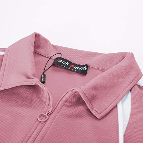 JACK SMITH Women Short Sleeve Moisture Wicking Sport Golf Polo Shirt Tops