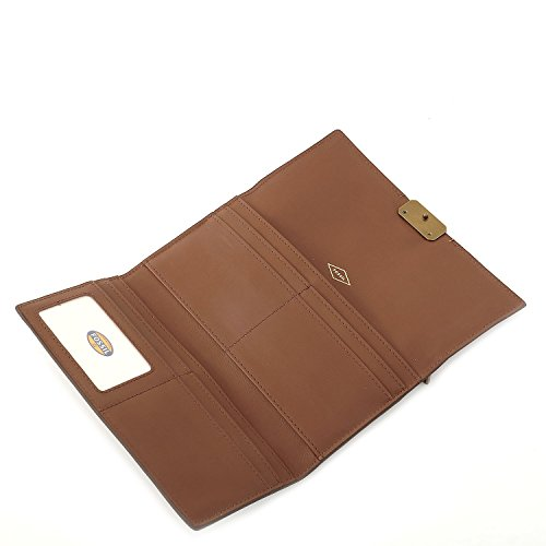 FOSSIL GELDBÖRSE - Emerson Flap Clutch - Brown