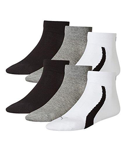 Black Sportive Quarters Lifestyle Puma Grey Calze 3p Uomo White qfAWw6x